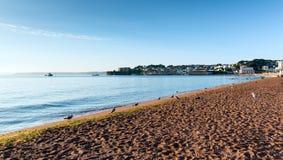 Παραλία Torbay Devon Αγγλία Paignton κοντά σε Torquay και Brixham στοκ εικόνα
