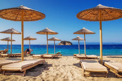 Παραλία Troulos, Skiathos, Ελλάδα Στοκ εικόνες με δικαίωμα ελεύθερης χρήσης