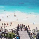 Παραλία Tulum Στοκ Εικόνα
