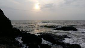 Παραλία Vagator, Goa στοκ εικόνα με δικαίωμα ελεύθερης χρήσης