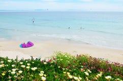 Παραλία Valdevaqueros άνοιξη Στοκ εικόνα με δικαίωμα ελεύθερης χρήσης