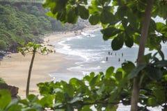 Παραλία Varkala στο κράτος του Κεράλα, Ινδία Στοκ Φωτογραφία