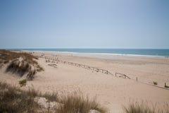 Παραλία Vejer τοπίων στο Καντίζ Στοκ εικόνες με δικαίωμα ελεύθερης χρήσης