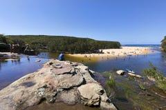 Παραλία Wattamolla Στοκ εικόνα με δικαίωμα ελεύθερης χρήσης