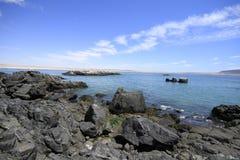 Παραλίες και λιμάνι κοντά σε Bahia Inglesia, Caldera, Χιλή στοκ εικόνα με δικαίωμα ελεύθερης χρήσης