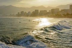 Παραλίες Ipanema, Leblon και Arpoador Στοκ εικόνες με δικαίωμα ελεύθερης χρήσης