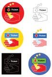 Παραλαβή εισιτηρίων Στοκ φωτογραφία με δικαίωμα ελεύθερης χρήσης