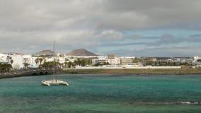 Παραλιακή πόλη Arrecife, Lanzarote, Κανάρια νησιά, Ισπανία Στοκ Φωτογραφία