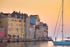 Παραλιακή πόλη Rovinj, Istria, Κροατία. στοκ εικόνες