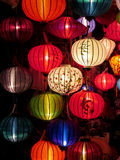 Παραδοσιακά ασιατικά culorful φανάρια στην κινεζική αγορά Στοκ φωτογραφία με δικαίωμα ελεύθερης χρήσης