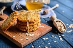 Παραδοσιακά αυστραλιανά μπισκότα Anzac Στοκ εικόνες με δικαίωμα ελεύθερης χρήσης