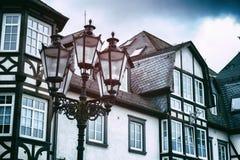 Παραδοσιακά γερμανικά σπίτια ξύλινων πλαισίων Στοκ Φωτογραφίες