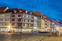 Παραδοσιακά γερμανικά σπίτια στην Ερφούρτη Στοκ εικόνες με δικαίωμα ελεύθερης χρήσης
