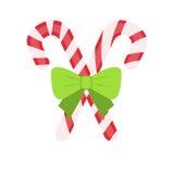 Παραδοσιακά εορταστικά Χριστούγεννα lollipops με διανυσματική απεικόνιση