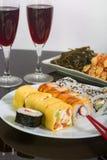 Παραδοσιακά ιαπωνικά σούσια τροφίμων Στοκ εικόνες με δικαίωμα ελεύθερης χρήσης