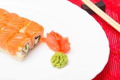 Παραδοσιακά ιαπωνικά σούσια τροφίμων Στοκ φωτογραφίες με δικαίωμα ελεύθερης χρήσης