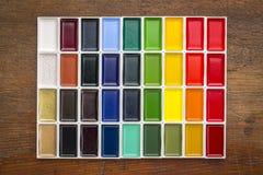 Παραδοσιακά ιαπωνικά χρώματα watercolor Στοκ Εικόνες