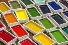 Παραδοσιακά ιαπωνικά χρώματα watercolor Στοκ φωτογραφία με δικαίωμα ελεύθερης χρήσης