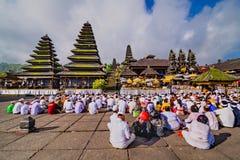 Παραδοσιακά ινδά κτήρια στο ναό Pura Besakih Μπαλί Ινδονησία Στοκ Εικόνα