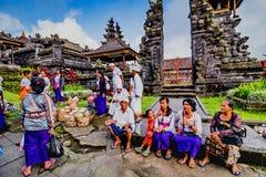 Παραδοσιακά ινδά κτήρια στο ναό Pura Besakih Μπαλί Ινδονησία Στοκ Εικόνες