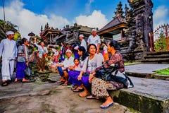 Παραδοσιακά ινδά κτήρια στο ναό Pura Besakih Μπαλί Ινδονησία Στοκ φωτογραφίες με δικαίωμα ελεύθερης χρήσης