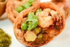 Παραδοσιακά ινδικά τρόφιμα Baati Στοκ Φωτογραφίες