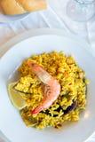 Παραδοσιακά ισπανικά θαλασσινά Paella Στοκ φωτογραφίες με δικαίωμα ελεύθερης χρήσης