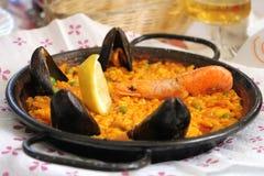 Παραδοσιακά ισπανικά τρόφιμα Paella Στοκ φωτογραφία με δικαίωμα ελεύθερης χρήσης