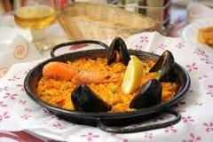 Παραδοσιακά ισπανικά τρόφιμα Paella Στοκ Εικόνα