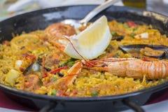 Παραδοσιακά ισπανικά τρόφιμα Paella Στοκ Εικόνες
