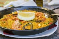 Παραδοσιακά ισπανικά τρόφιμα Paella Στοκ Φωτογραφία