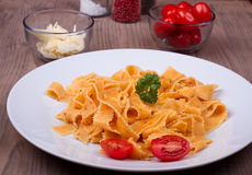 Παραδοσιακά ιταλικά ζυμαρικά Στοκ Φωτογραφίες