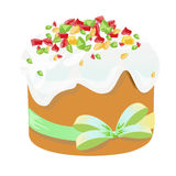 Παραδοσιακά κέικ και αυγά Πάσχας Στοιχείο σχεδίου που απομονώνεται στο λευκό EPS 10 απεικόνιση Στοκ Εικόνες