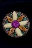 Παραδοσιακά μπισκότα Novruz στο μαύρο υπόβαθρο Στοκ εικόνες με δικαίωμα ελεύθερης χρήσης