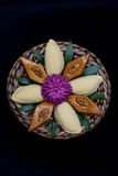 Παραδοσιακά μπισκότα Novruz στο μαύρο υπόβαθρο Στοκ Εικόνες