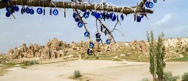 Παραδοσιακά μπλε κακά μάτια Nazars Στοκ Εικόνες