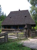 Παραδοσιακά ουκρανικά ξύλινα σπίτια Στοκ φωτογραφία με δικαίωμα ελεύθερης χρήσης