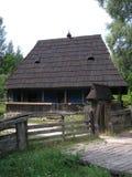 Παραδοσιακά ουκρανικά ξύλινα σπίτια Στοκ Εικόνα