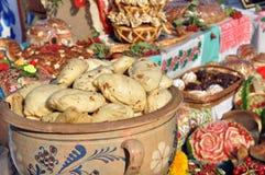 Παραδοσιακά ουκρανικά τρόφιμα - μπουλέττες Στοκ Εικόνες