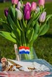 Παραδοσιακά ολλανδικά poffertjes Στοκ φωτογραφία με δικαίωμα ελεύθερης χρήσης