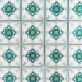 Παραδοσιακά περίκομψα πορτογαλικά διακοσμητικά azulejos κεραμιδιών Τρύγος Στοκ φωτογραφίες με δικαίωμα ελεύθερης χρήσης