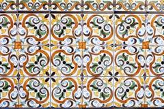 Παραδοσιακά πορτογαλικά κεραμικά κεραμίδια στοκ φωτογραφίες με δικαίωμα ελεύθερης χρήσης