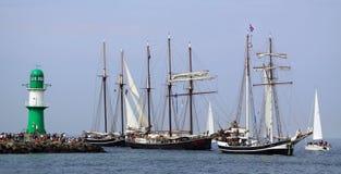 Παραδοσιακά πλέοντας σκάφη Στοκ φωτογραφία με δικαίωμα ελεύθερης χρήσης