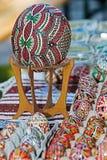 Παραδοσιακά ρουμανικά αυγά Πάσχας, που χρωματίζονται και που διακοσμούνται στοκ φωτογραφία