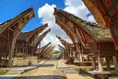 Παραδοσιακά σιταποθήκες και σπίτι ρυζιού Tongkonan Στοκ Φωτογραφία