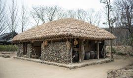 Παραδοσιακά σπίτια στην Κορέα στοκ φωτογραφίες