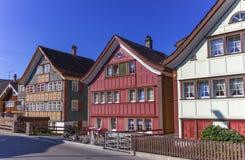 Παραδοσιακά σπίτια Appenzell, Ελβετία Στοκ φωτογραφίες με δικαίωμα ελεύθερης χρήσης