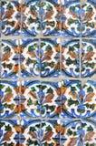 Παραδοσιακά σχέδια ενός ανδαλουσιακού Azulejo Στοκ φωτογραφίες με δικαίωμα ελεύθερης χρήσης