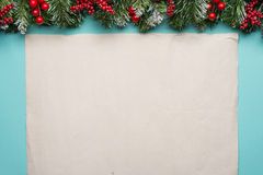Παραδοσιακά σύνορα Χριστουγέννων Στοκ εικόνα με δικαίωμα ελεύθερης χρήσης