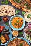 Παραδοσιακά τουρκικά πιάτα Στοκ Φωτογραφία